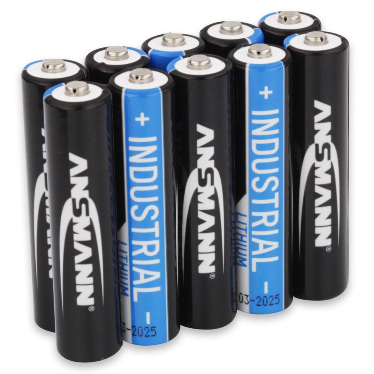 Ansmann Lithium-Batterie Micro AAA- 10er-Pack