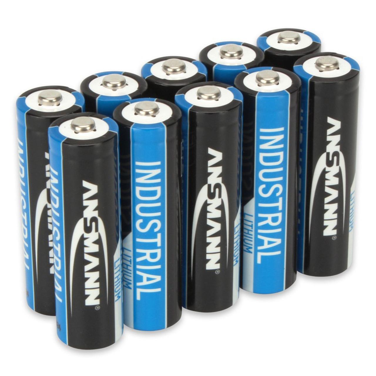 Ansmann Lithium-Batterie Mignon AA- 10er-Pack