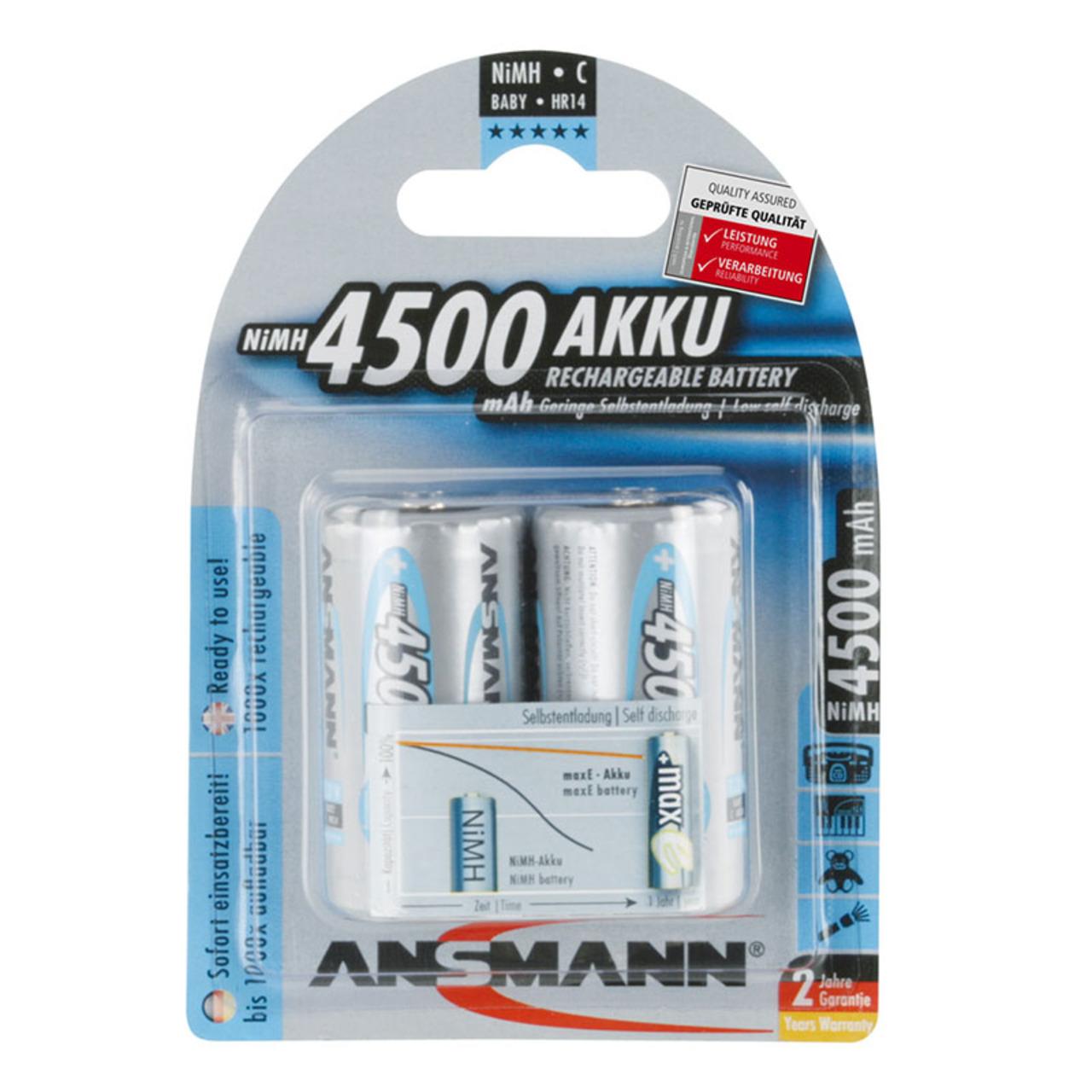 Ansmann maxE NiMH-Akku Baby 4500 mAh