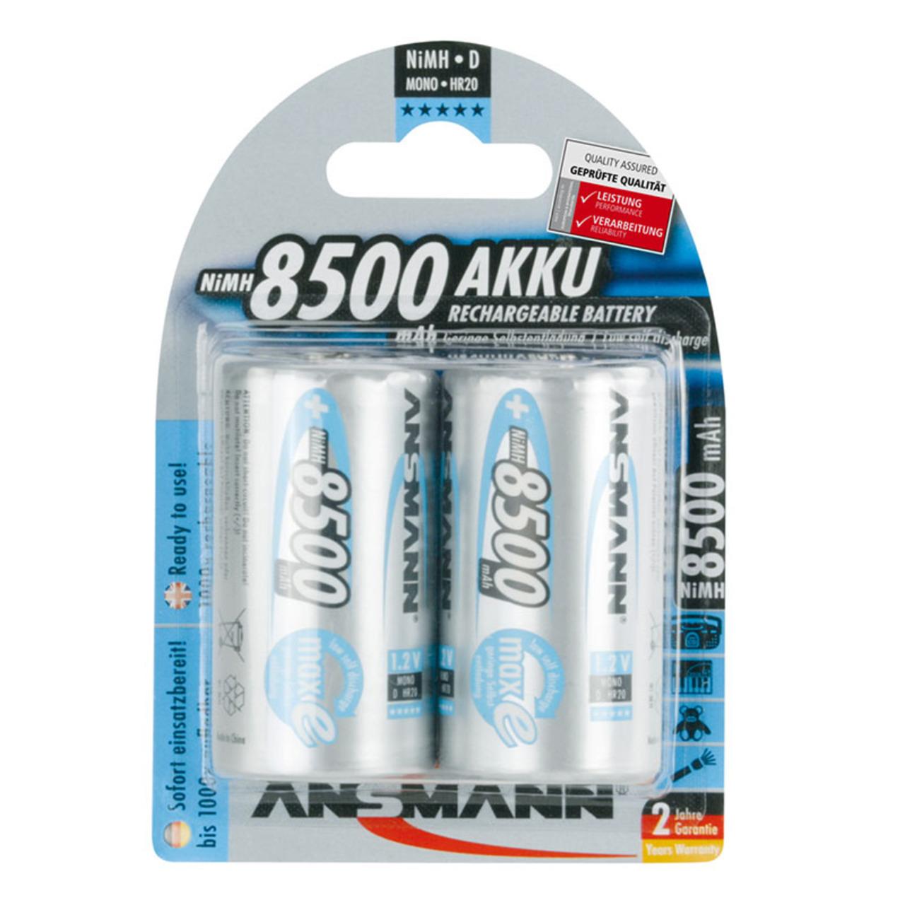 Ansmann maxE NiMH-Akku Mono 8500 mAh- 2er Pack