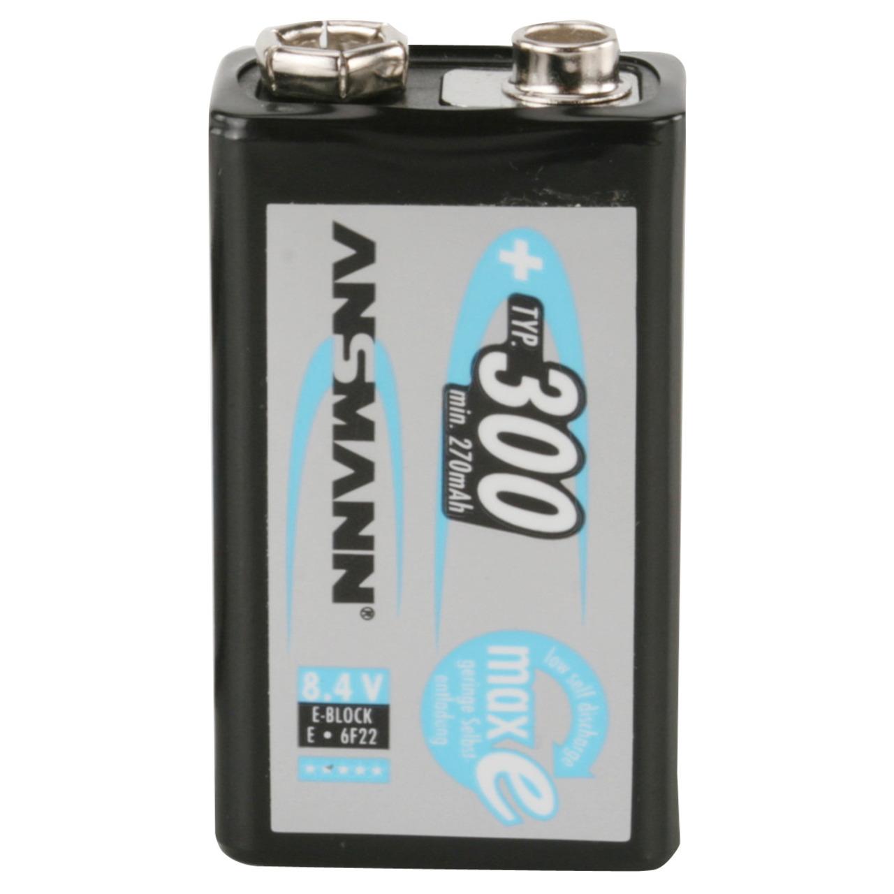 Ansmann maxE plus 9V NiMH-Akku 270 mAh