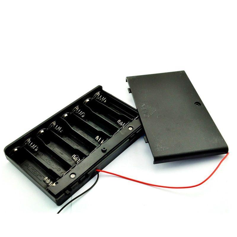 Batteriehalter für 8x AA Batterien 12V mit An-Aus-Schalter