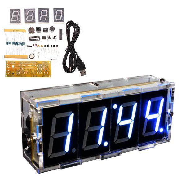 Bausatz: Digitale LED Microcontroller-Uhr (weiss)
