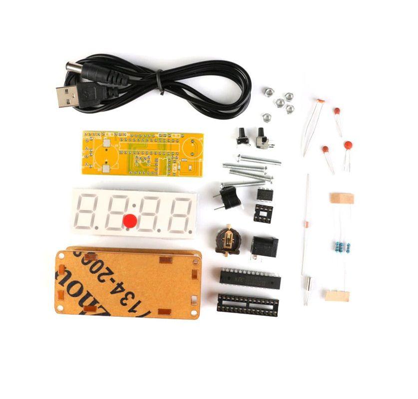 Bausatz: Elektronische Uhr mit 4 Bit Display (Rot)