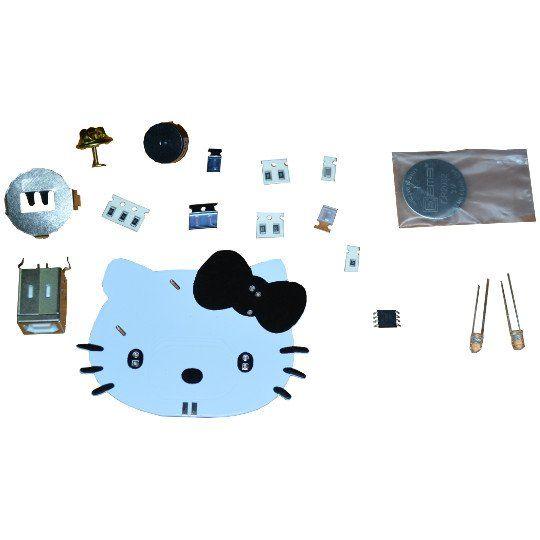 Bausatz: TuxCon Kitty programmierbare Anstecknadel mit LEDs