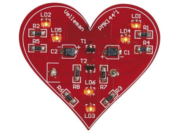 Bausatz: Velleman MK144 Blinkendes SMD-Herz