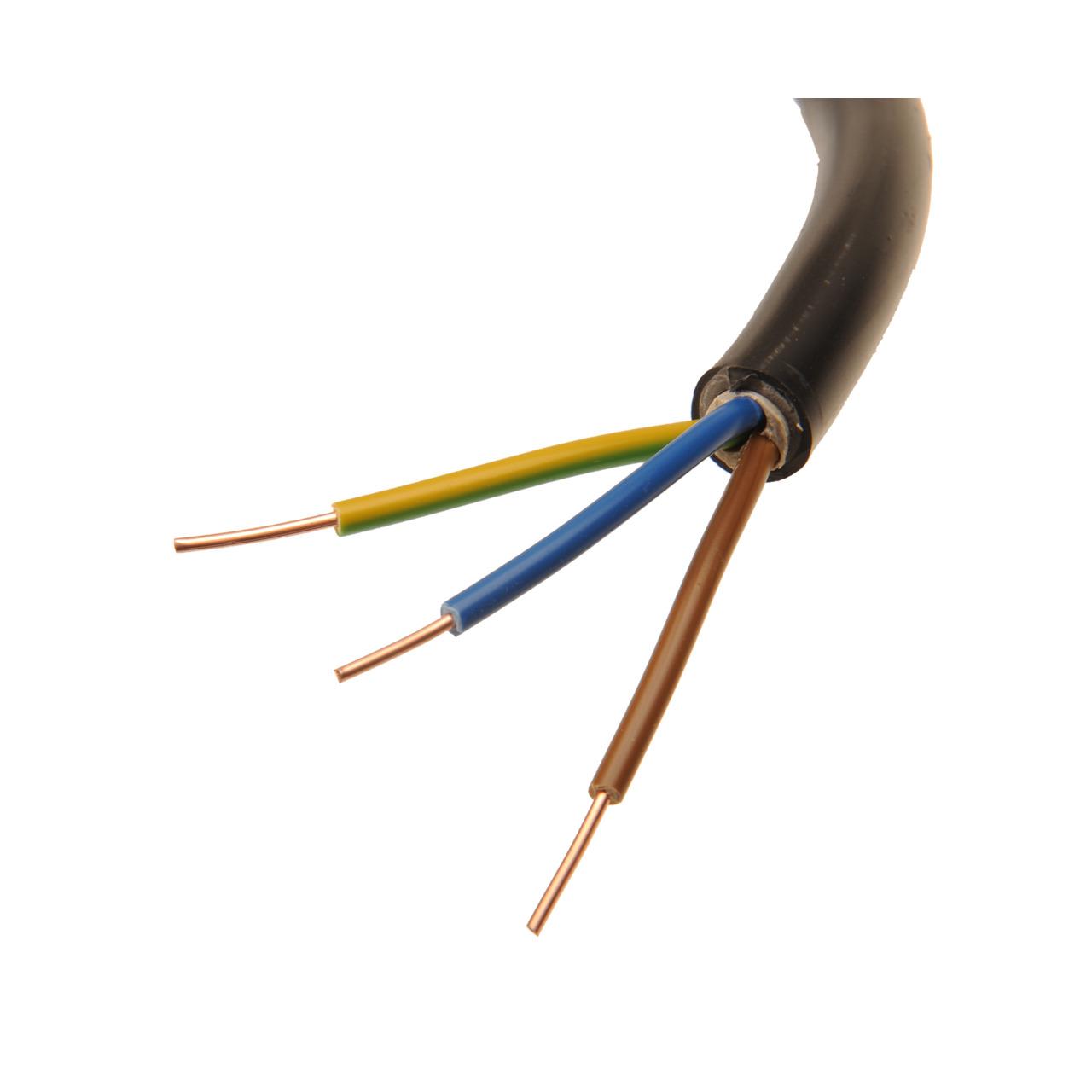 BKL Electronic NYY-J 3x 1-5 mm- Erdkabel- schwarz- 20 m