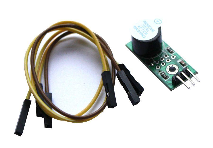 Buzzer Modul mit Piezo Lautsprecher 3-5-5V - 9012 Transistor mit Kabel