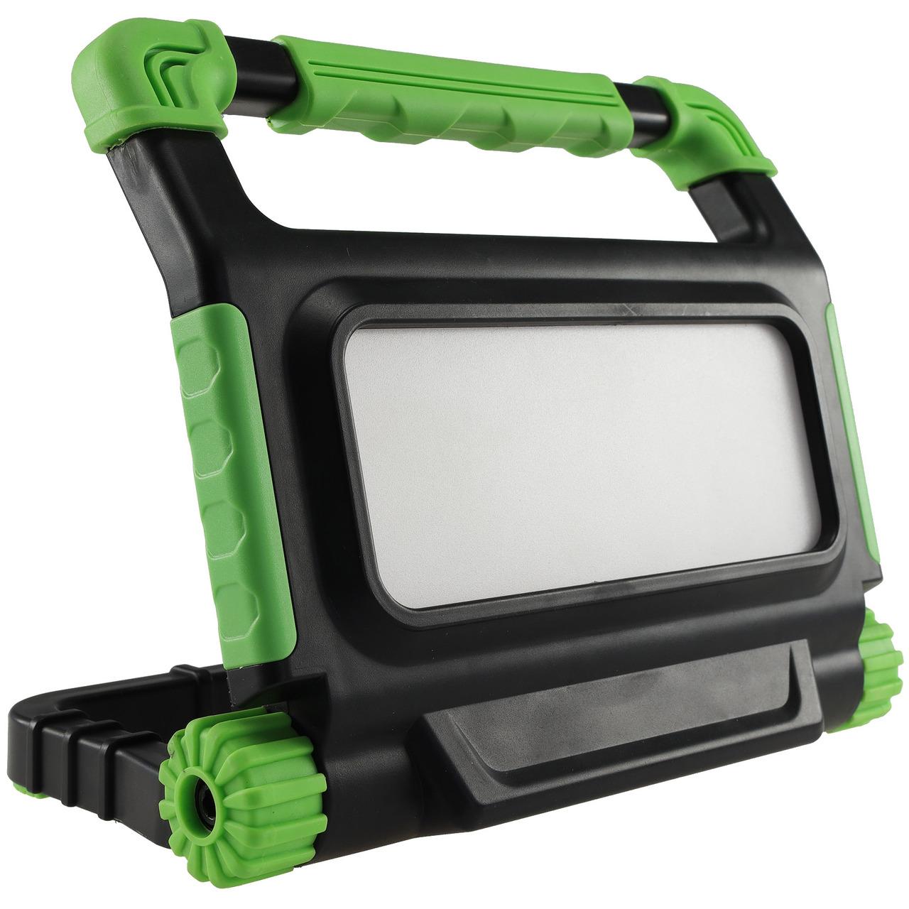 ChiliTec 30-W-Akku-LED-Baustrahler - LED-Fluter BSA-30- neutralweiss- integrierte Powerbank- IP54
