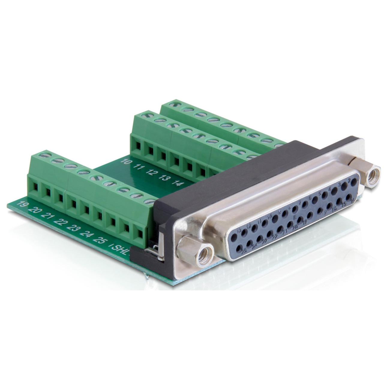 Delock Adapter Terminalblock - Sub-D 25Pin Buchse
