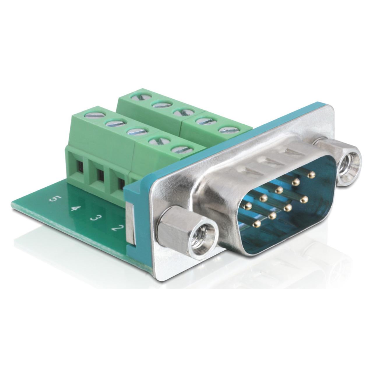 Delock Adapter Terminalblock - Sub-D 9Pin Stecker