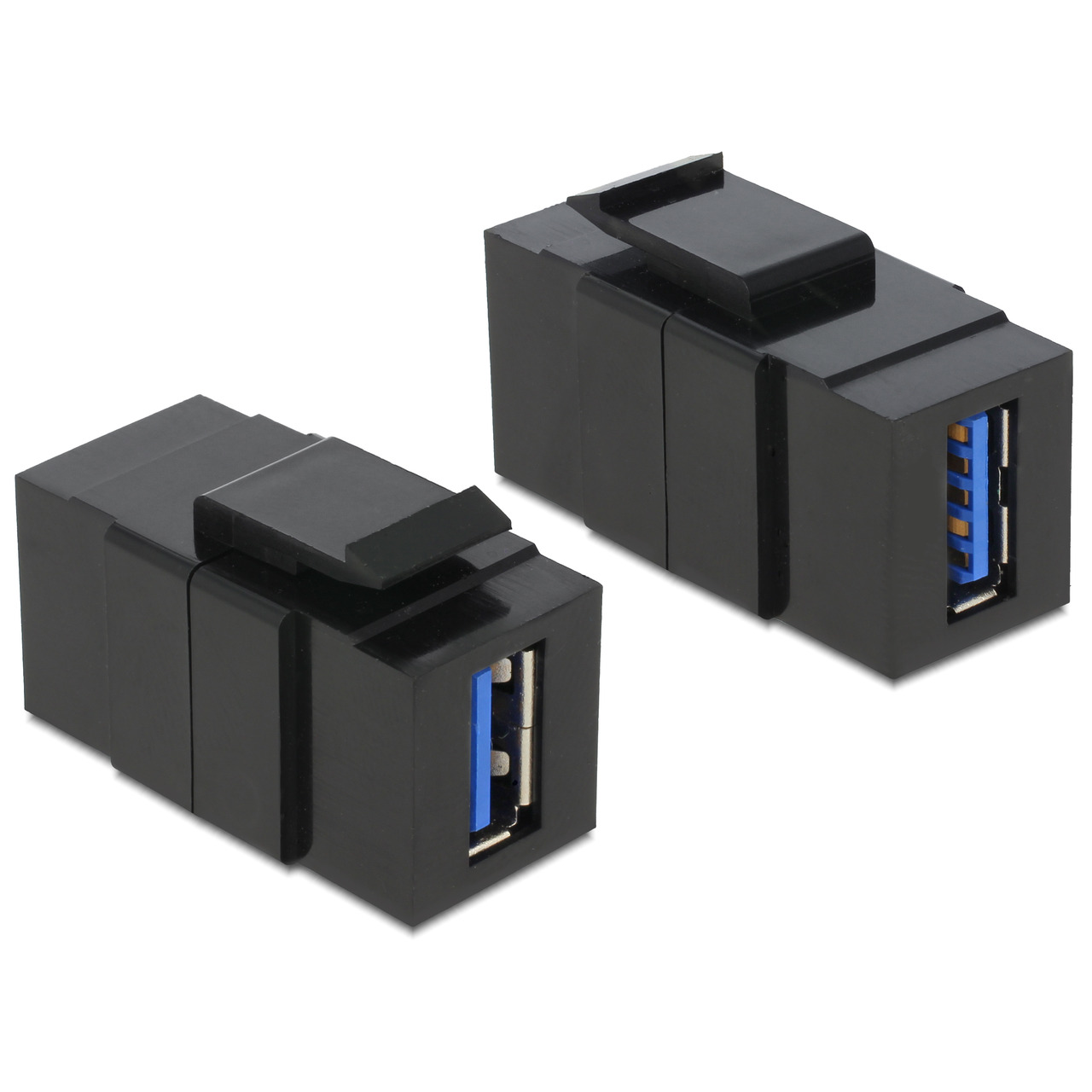 Delock Keystone USB 3-0 A-Buchse - USB 3-0 A-Buchse schwarz