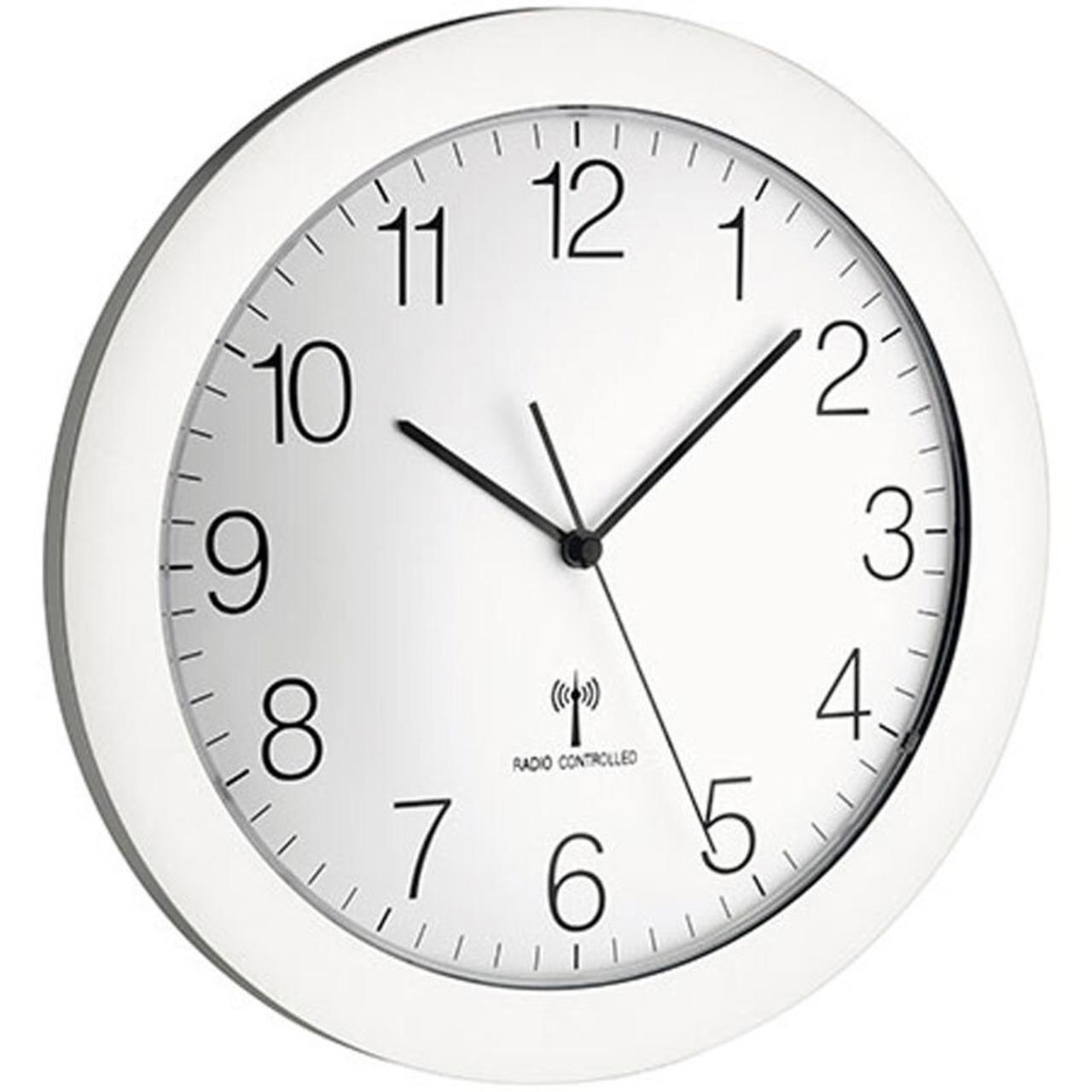 Design-Funk-Wanduhr mit geräuscharmen Sweep-Uhrwerk- - 30-2 cm