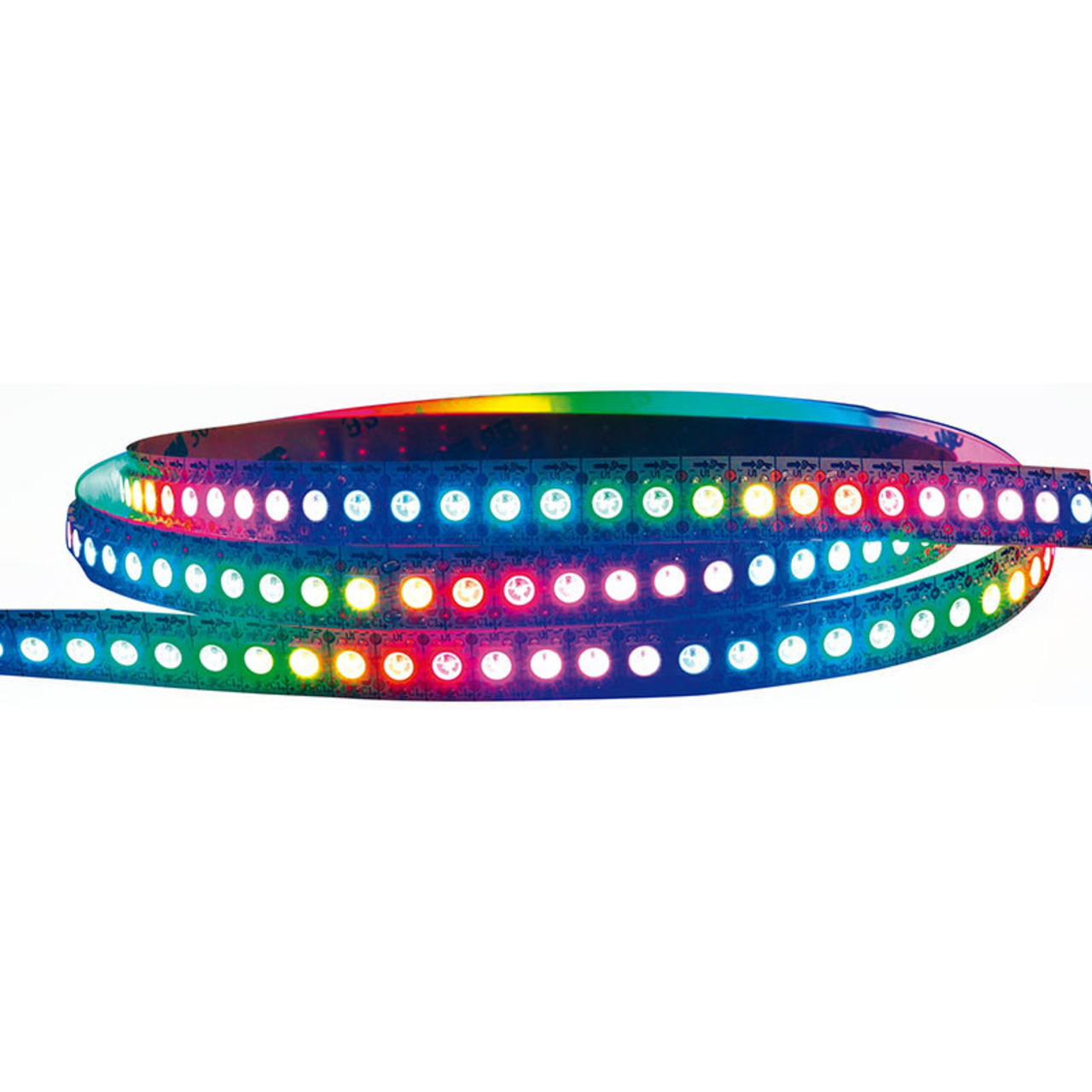 Diamex 2-m-LED-Streifen mit WS2812-kompatiblen-LEDs- 144 LEDs-m- schwarze Platine