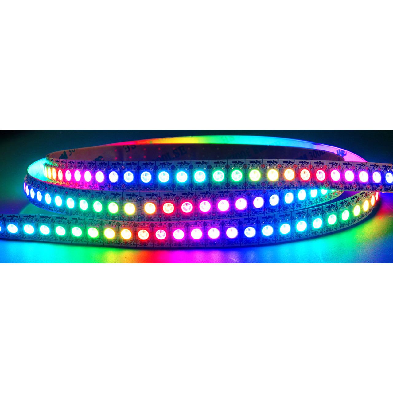 Diamex 2-m-LED-Streifen mit WS2812-kompatiblen-LEDs- 144 LEDs-m- weisse Platine