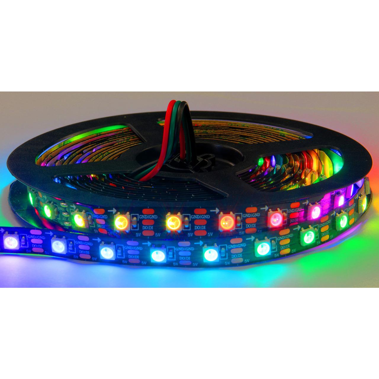 Diamex 4-m-LED-Streifen mit WS2812-kompatiblen-LEDs- 60 LEDs-m- schwarze Platine