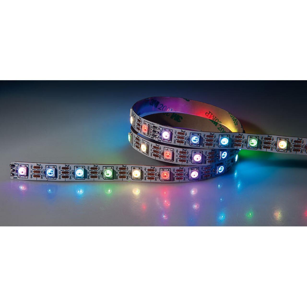 Diamex 5-m-LED-Streifen mit WS2812-kompatiblen-LEDs- 30 LEDs-m- weisse Platine