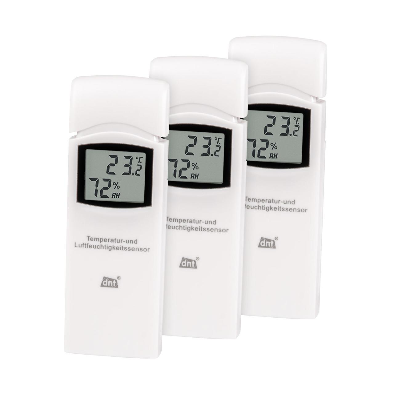 dnt 3er-Spar-Set Zusatz-Thermo-Hygrosensor DNT000005 fund-252 r dnt RoomLogg PRO und dnt WeatherScreen PRO