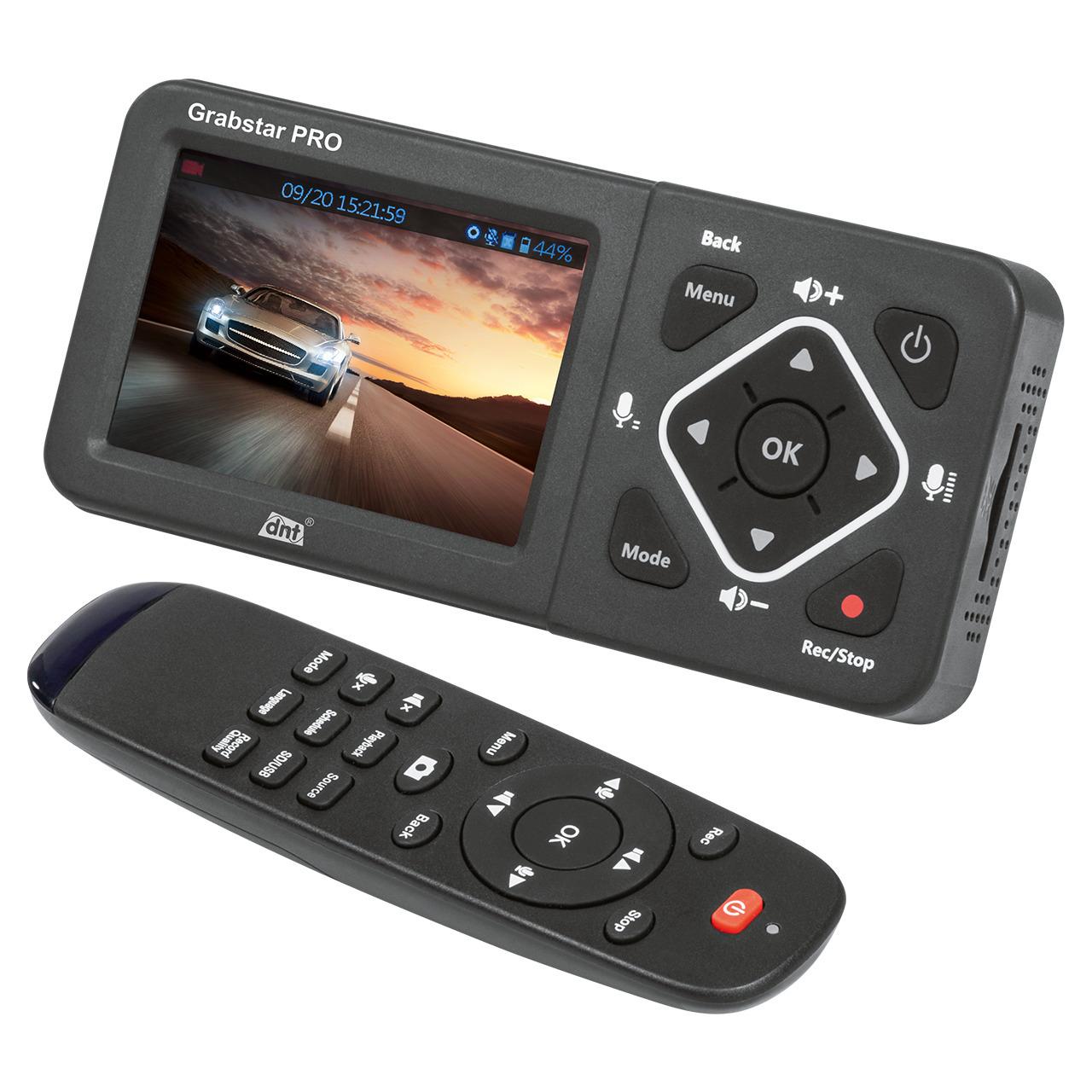 dnt HDMI-Video-Digitalisierer Grabstar PRO- 8-9 cm Vorschaudisplay- bis 1080p-60 fps- USB- SD-SDHC
