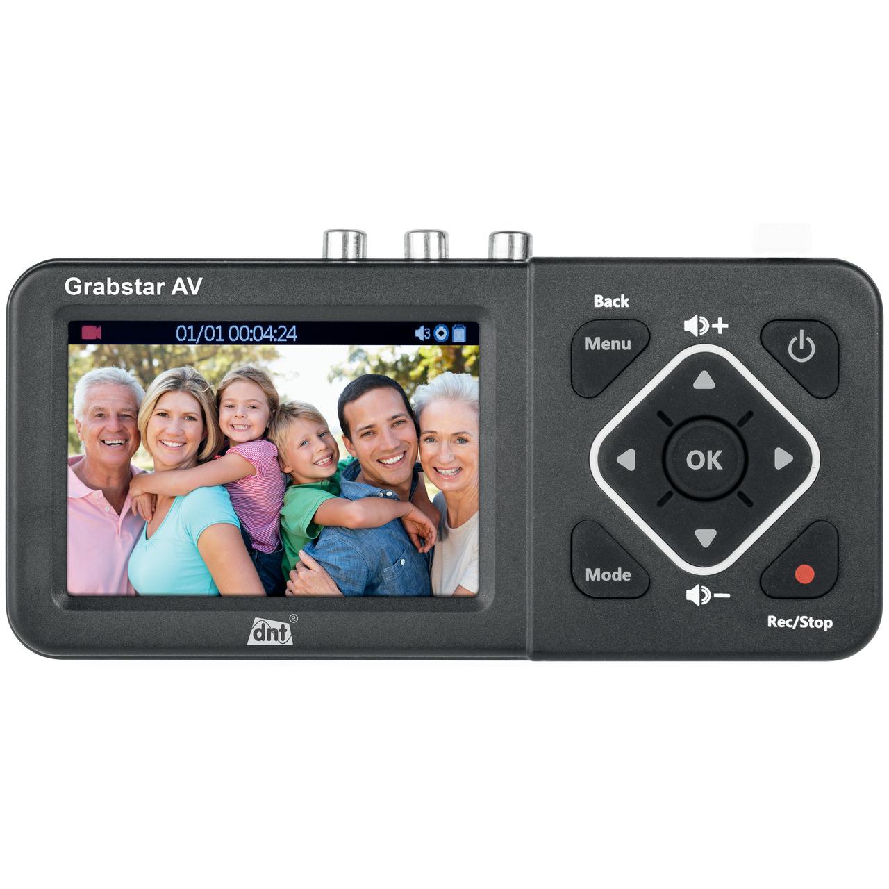 dnt Video-Digitalisierer Grabstar AV- 8-9 cm (3-5) Vorschaudisplay- S-Video- speichert auf USB- SD