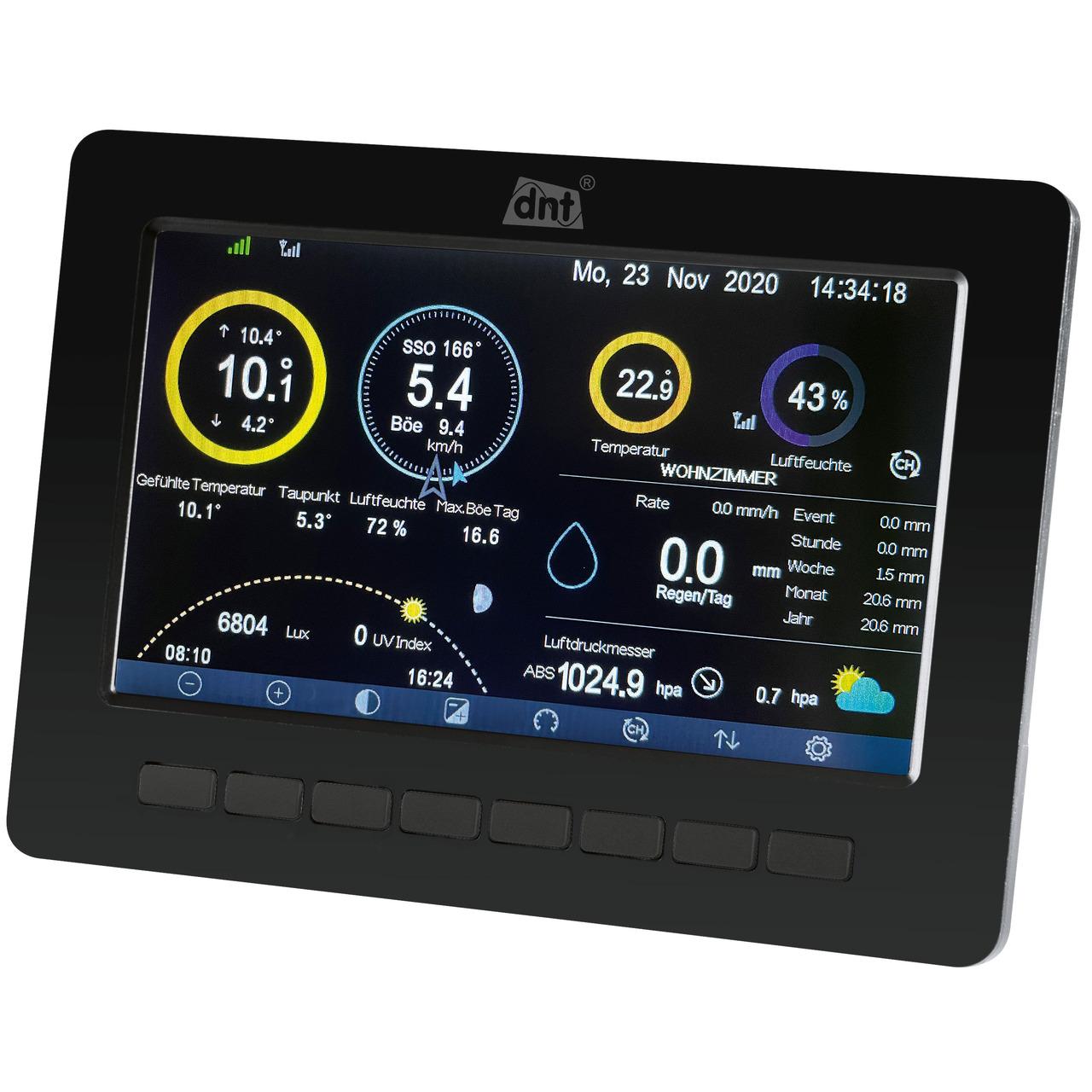 dnt Zusatz-Display für dnt WeatherScreen PRO- 17-8-cm-TFT-Farbdisplay (7)- inkl- Netzteil