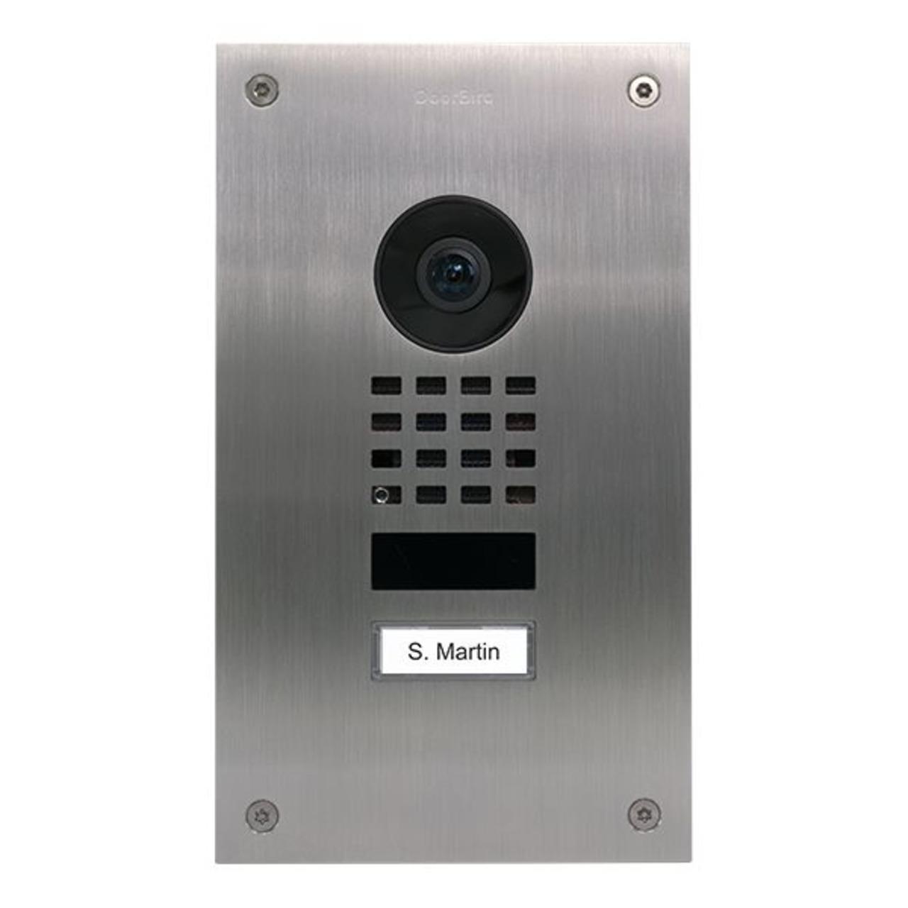 Doorbird WLAN-IP-Türsprechanlage D1101UV- Unterputz (Upgrade für vorhandene D201 - D202)