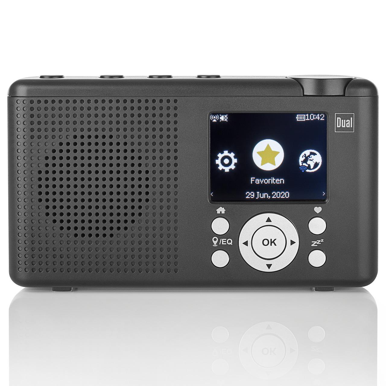 Dual Portables Hybrid-Digitalradio MCR 200- DAB+-UKW-Internetradio- Bluetooth- integrierter Akku