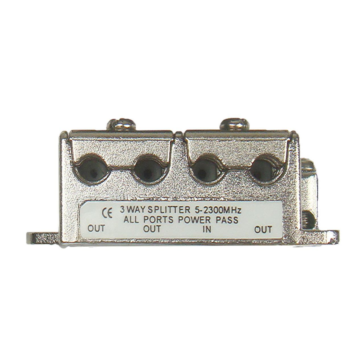 DUR-line 3-fach Mini-BK-Sat-Verteiler- kleine Bauform- ideal für Unterputzmontage (Unterputzdosen)