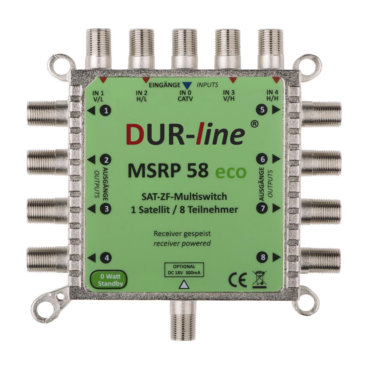 DUR-line ECO-Multischalter MSRP 58 eco- benund-246 tigt kein Netzteil- 0 W im Stand-by