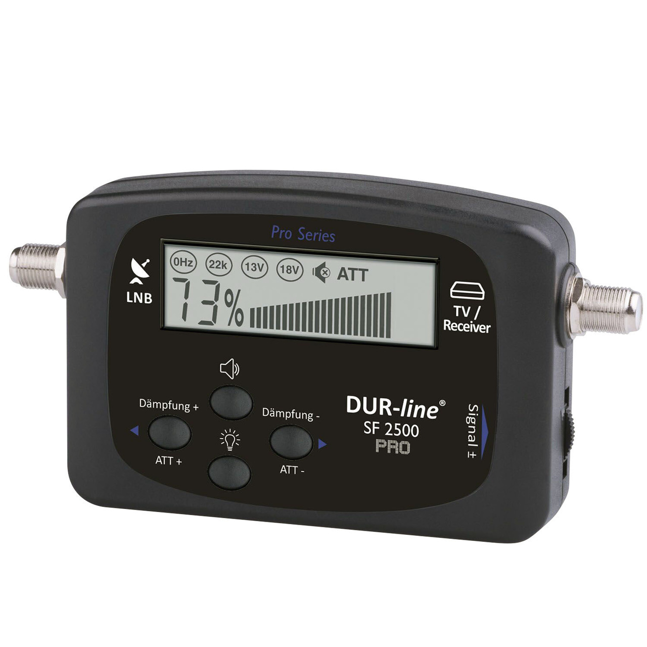 DUR-Line Satfinder SF 2500 Pro- DVB-S-S2-  inkl- Sat-Verbindungskabel (21 cm)