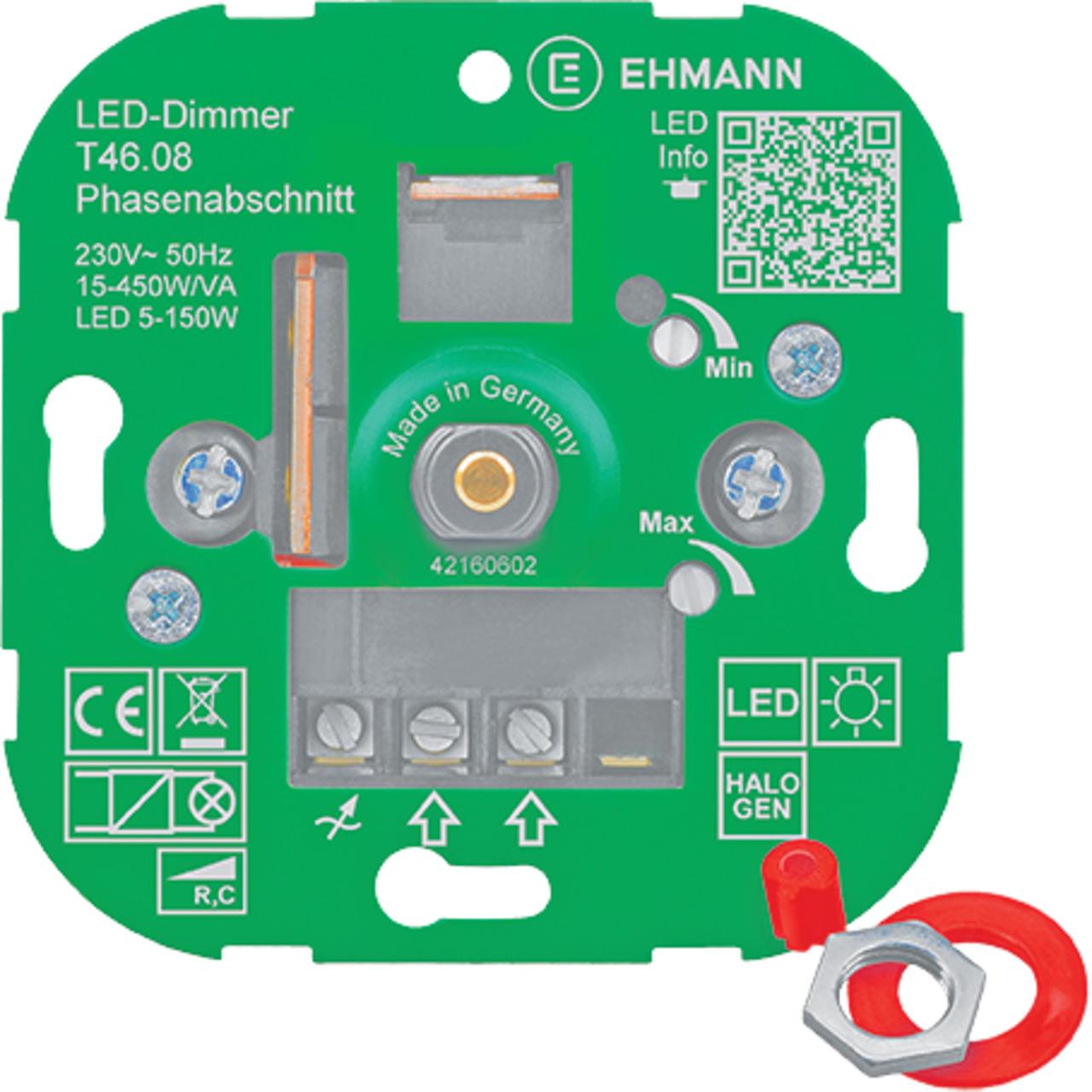 Ehmann T46-08 UP-LED-Dimmer- Phasenabschnitt
