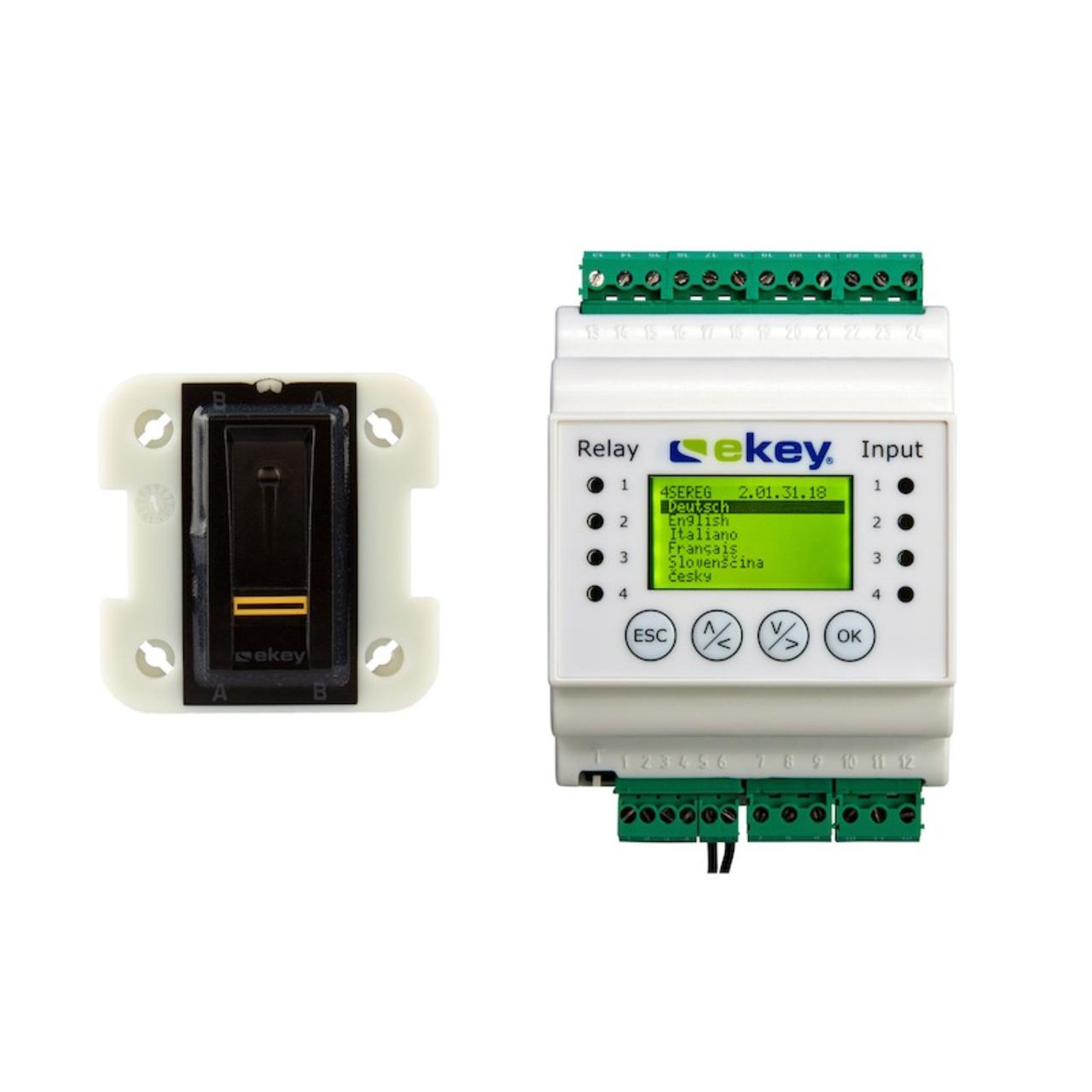 ekey Fingerprintscanner home Set UP I SC REG 2- Relais 99- schwarz für Doorbird D2101FV