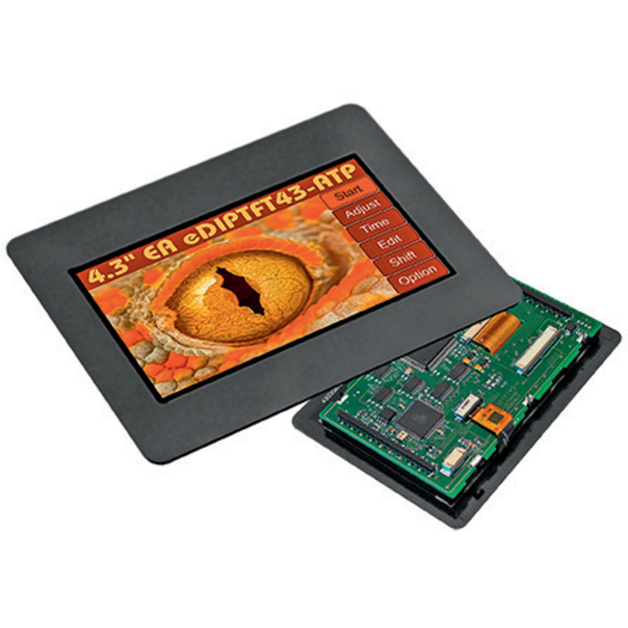 Electronic Assembly LCD-Bedieneinheit mit Touch EA eDIPTFT43-ATC- 480 x 272 Pixel mit Glasrahmen
