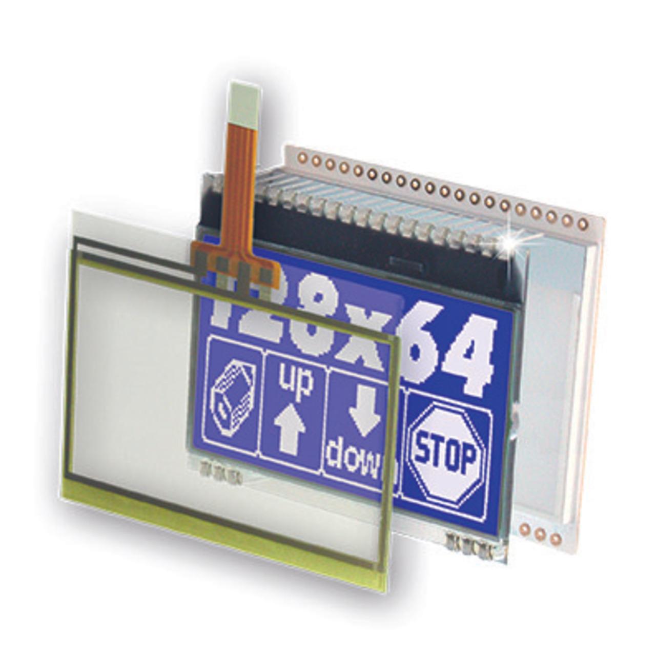 Electronic Assembly LCD-Grafikdisplay EA DOGM128 128x64 Pixel- STN blau