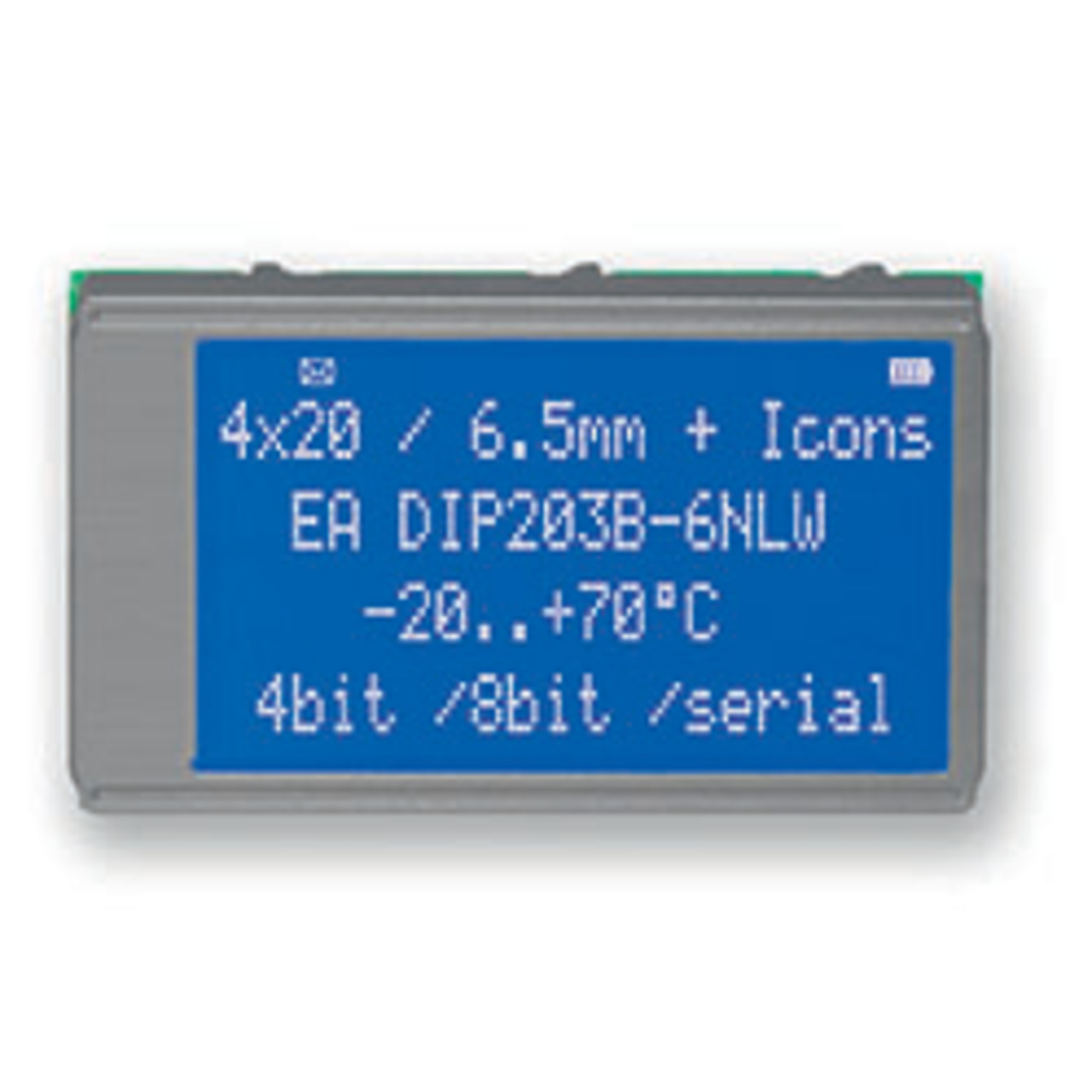 Electronic Assembly LCD-Punktmatrixdisplay EADIP203B-6NLW 4x20- 6-45 mm