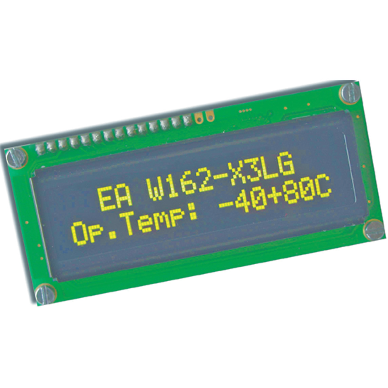 Electronic Assembly OLED-Display EAW162-X3LG 2x16- character 5-5 mm- gelb