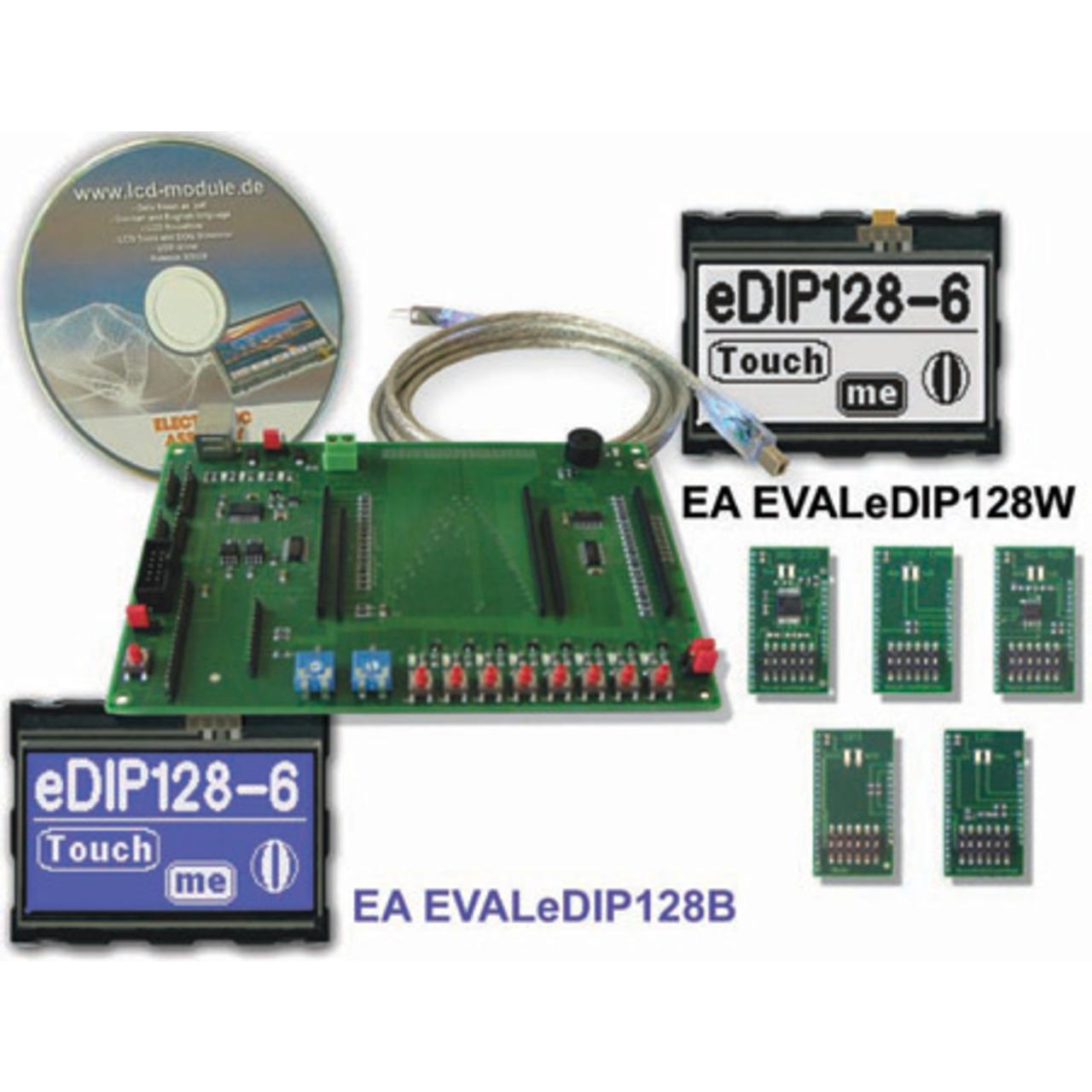 Electronic Assembly Starterkit mit Grafik-LCD EA EVALeDIP128B 128x64 Pixel