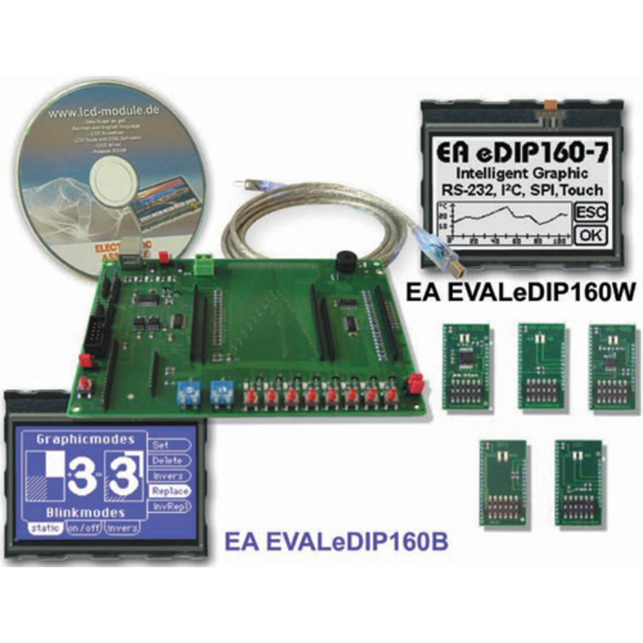 Electronic Assembly Starterkit mit Grafik-LCD EA EVALeDIP160B 160x104 Pixel
