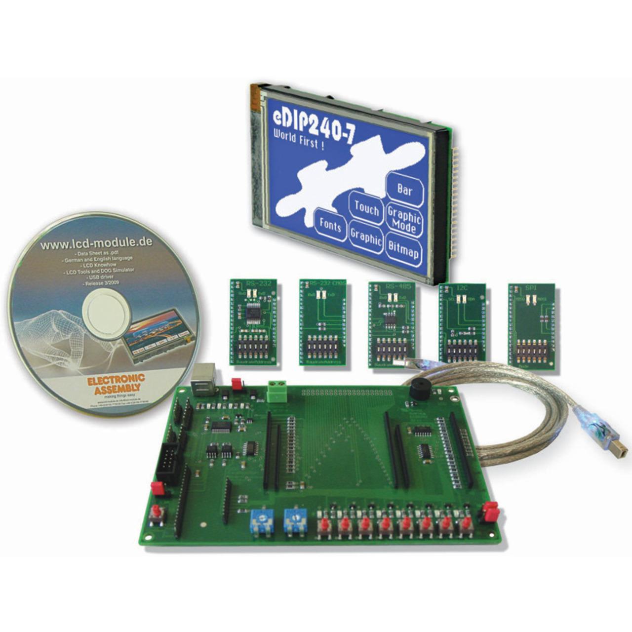 Electronic Assembly Starterkit mit Grafik-LCD EA EVALeDIP240B 240x128 Pixel