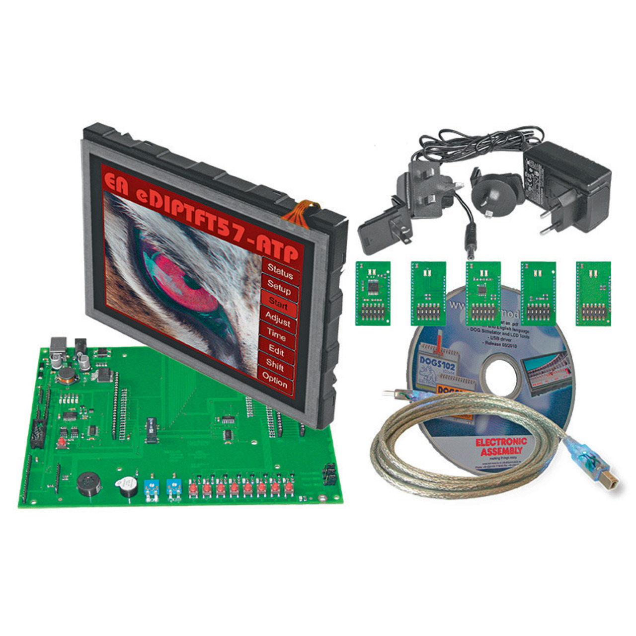 Electronic Assembly Starterkit mit Grafik-LCD EA EVALeDIPTFT57- 640 x 480 Pixel