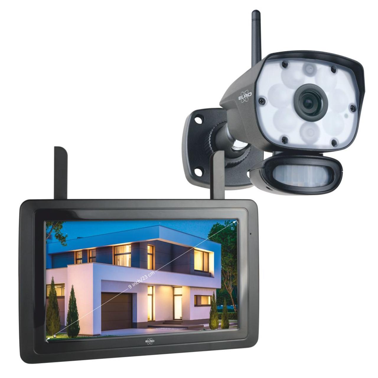 ELRO Funk-Kamerasystem CZ60RIP11S- inkl- Touch-Display (9undquot )- App-Steuerung- 1080p (Full-HD)
