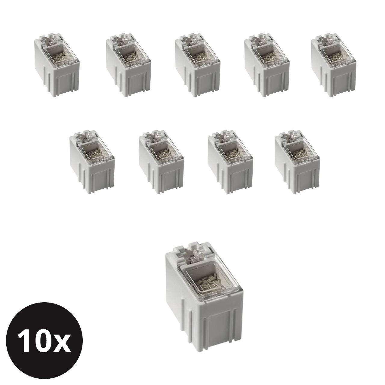 ELV 10er-Set SMD-Sortierbox- Altweiss- 23 x 15-5 x 27 mm