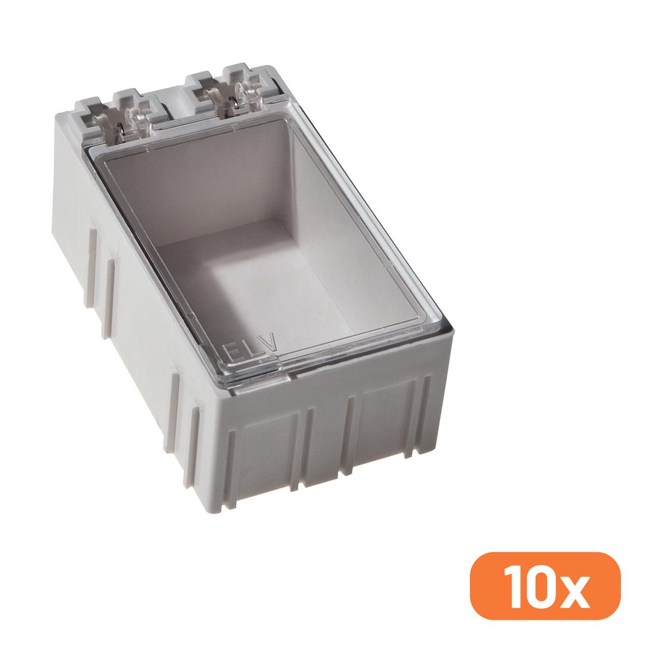ELV 10er-Set SMD-Sortierbox- Altweiss- 23 x 31 x 54 mm