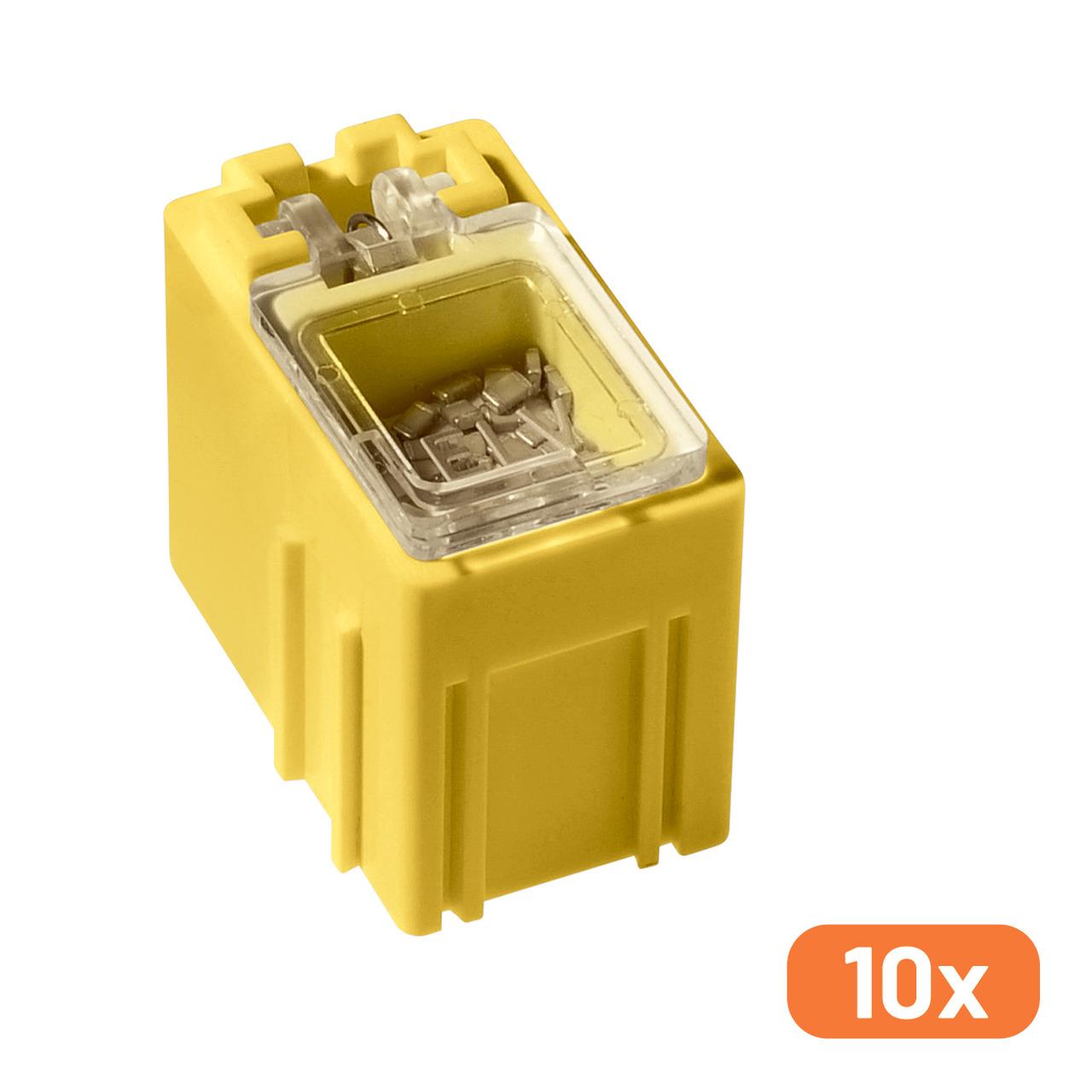 ELV 10er-Set SMD-Sortierbox- Gelb- 23 x 15-5 x 27 mm