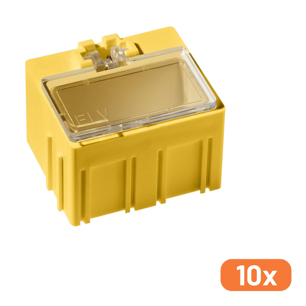 ELV 10er-Set SMD-Sortierbox- Gelb- 23 x 31 x 27 mm