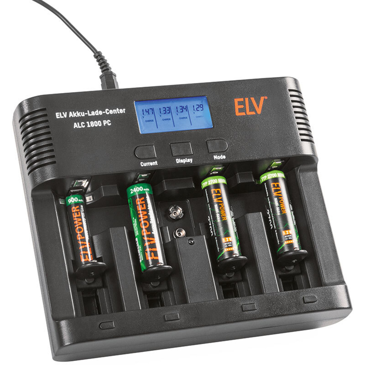 ELV Akku-Lade-Center ALC1800PC- inkl- PC-Auswertesoftware