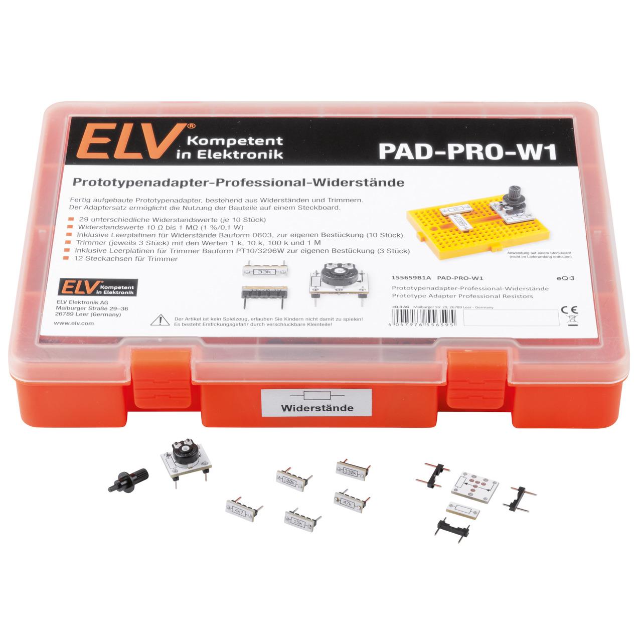 ELV Aufbewahrungsbox mit Widerständen und Trimmer PAD-PRO-W1- 315 Teile