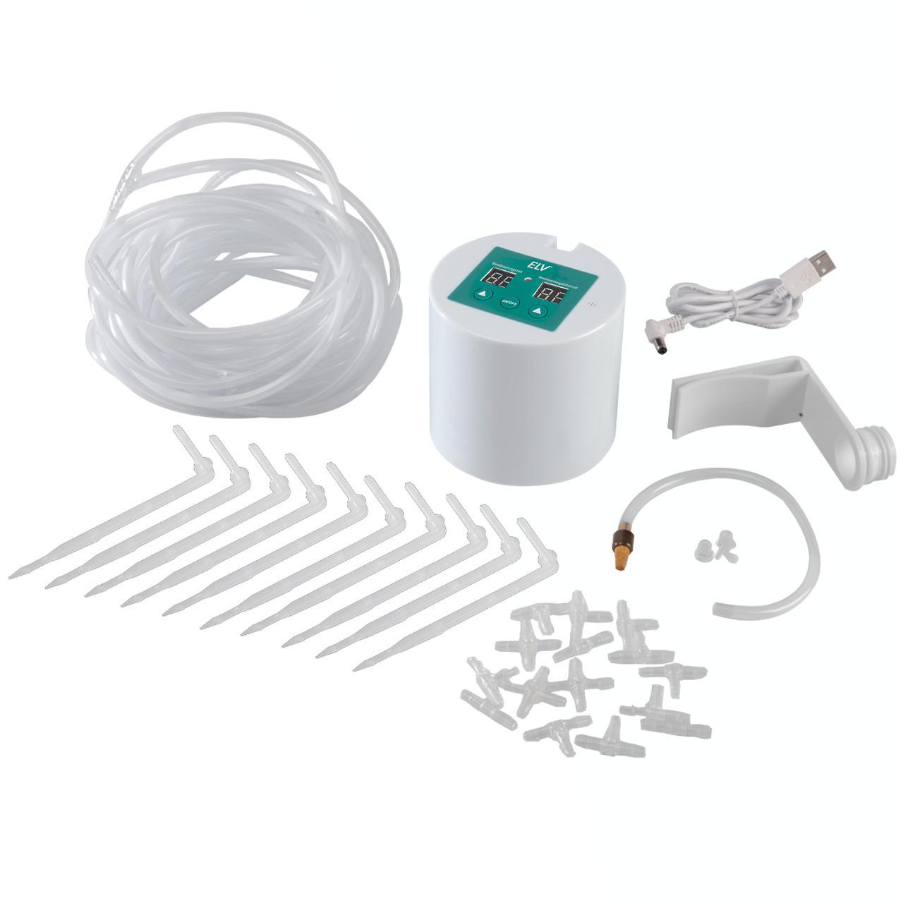 ELV Automatik-Bewässerungssystem mit 10 Tropfstellen- Batterie- und Netzbetrieb möglich