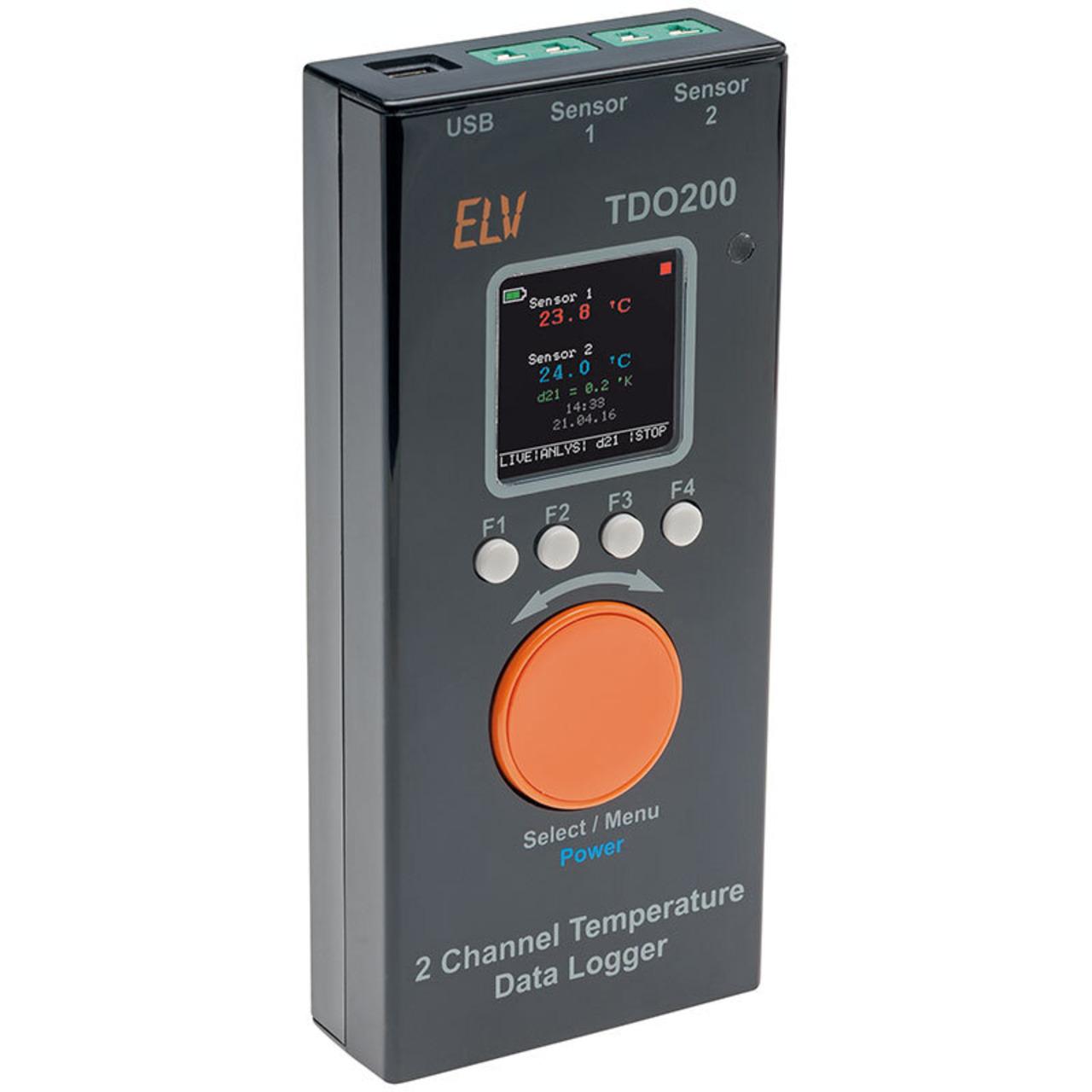 ELV Bausatz 2-Kanal-Temperatur Datenlogger TDO200