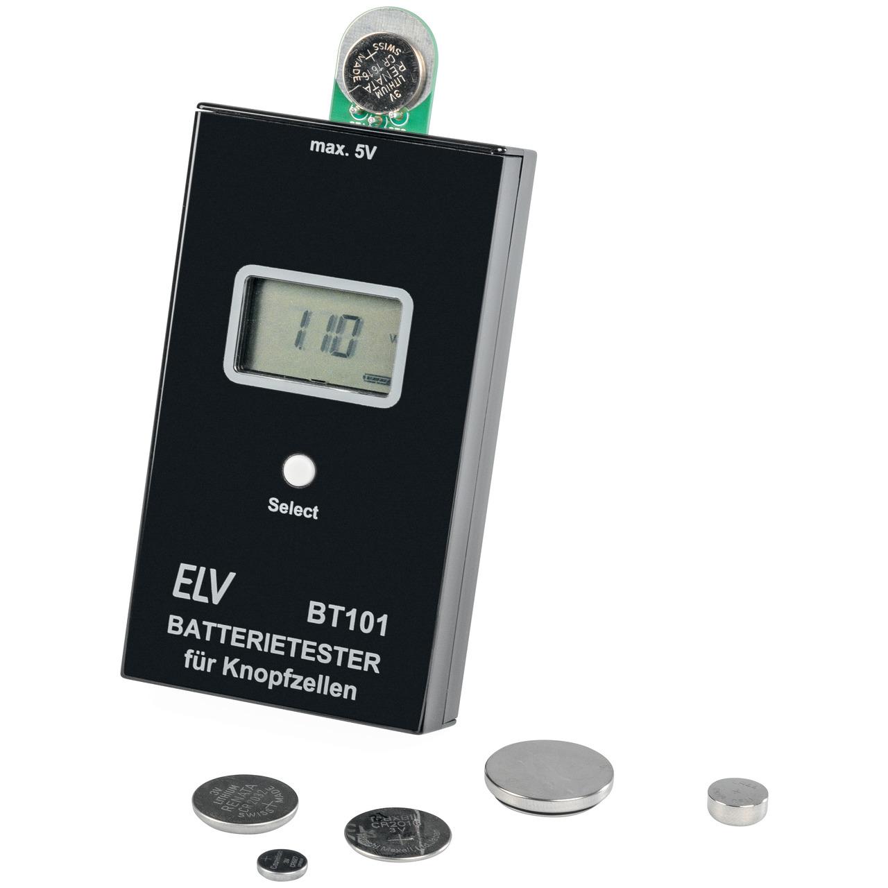 ELV Bausatz Batterietester für Knopfzellen BT101